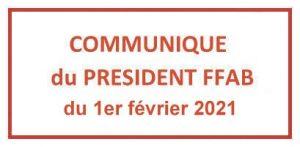 Président de la FFAB : 1er février 2021