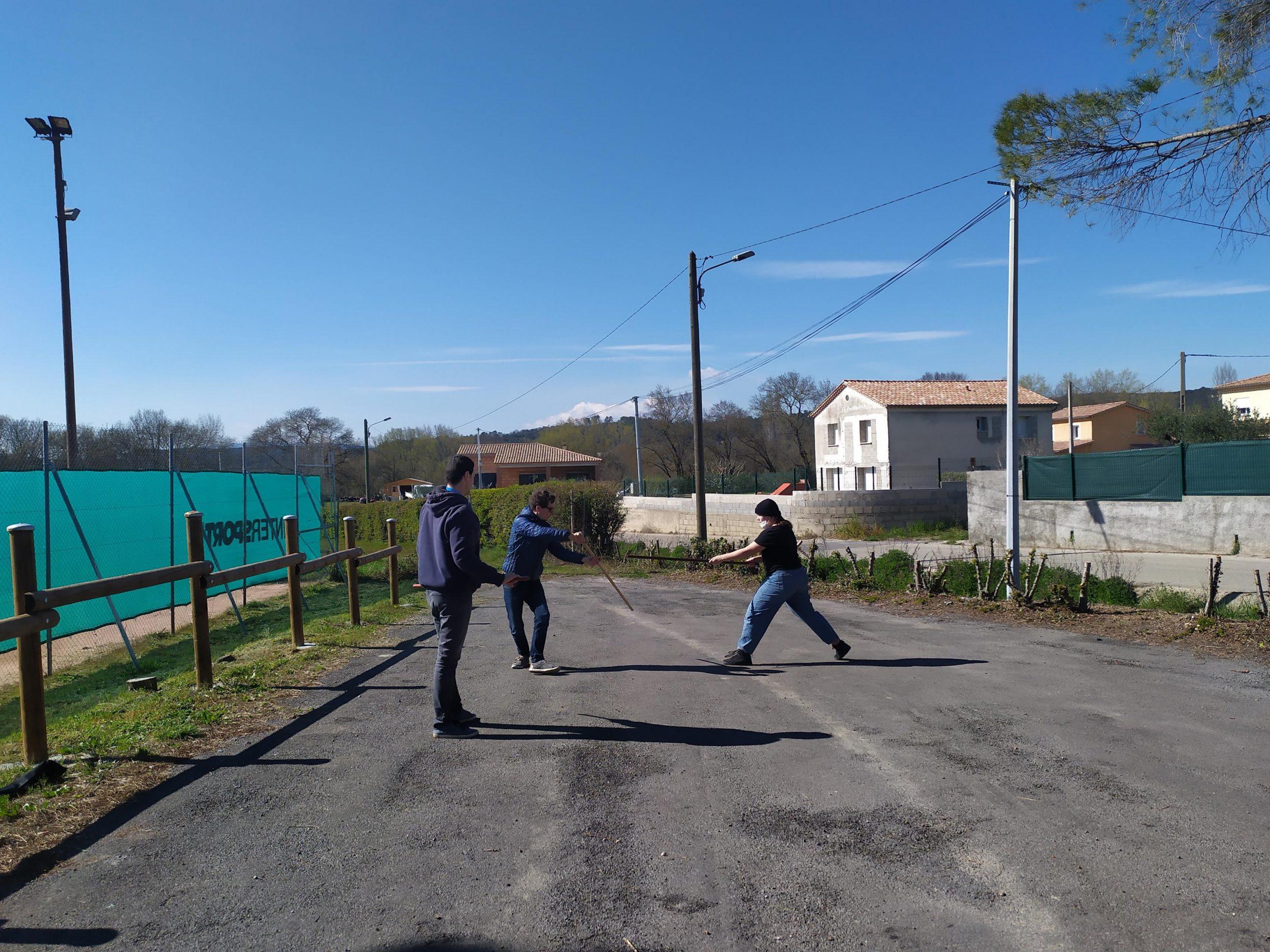 CID LPC: Aikido, Club Aikikai en Cévennes, cours d'armes