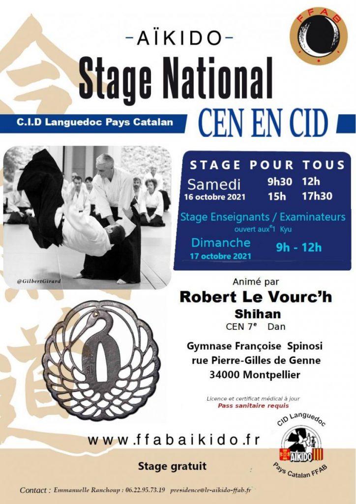 Stage national animé par Robert Le Vourh 7ème Dan